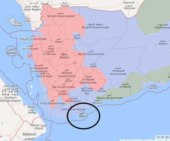 تقابل نظامی عربستان و امارات در عدن/ یمن تجزیه خواهد شد!؟/ چه کسی دست برتر را دارد+نقشه