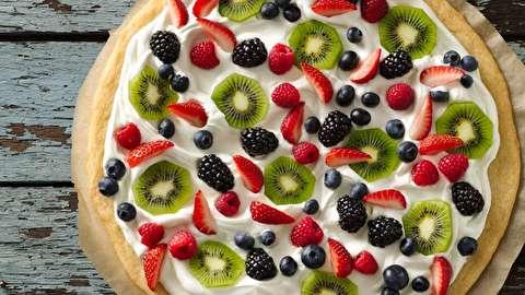 طرز تهیه پیتزای میوه