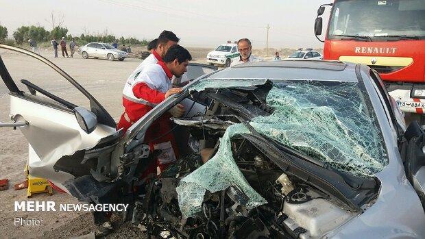 تصادف در محور قدیم ساوه-همدان ۲ کشته برجای گذاشت
