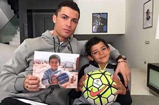 تعجب پسر رونالدو از محل زندگی دوران کودکی پدرش