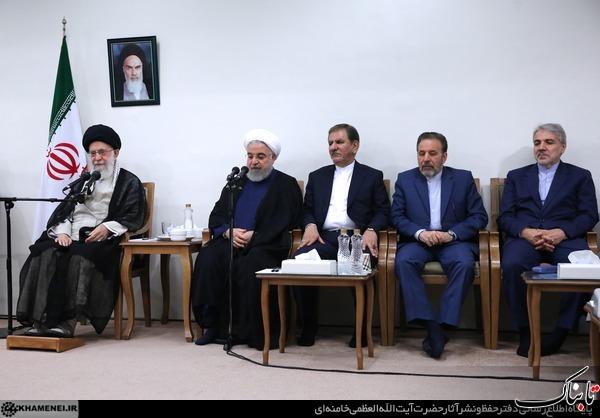 رهبر انقلاب در دیدار رئیس جمهور و اعضای هیأت دولت