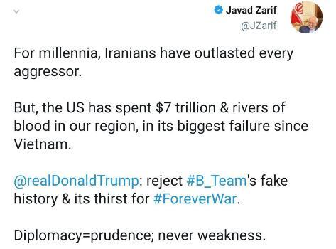 ظریف: ایرانیان در برابر هر غاصبی دوام آوردهاند