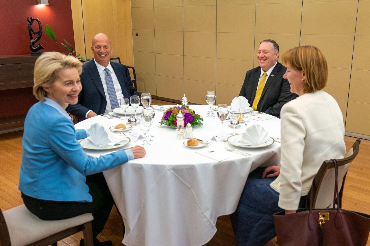 دیدار پمپئو با رئیس منتخب کمیسیون اروپایی