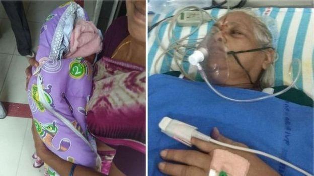 زن ۷۳ ساله هندی دوقلو زایید
