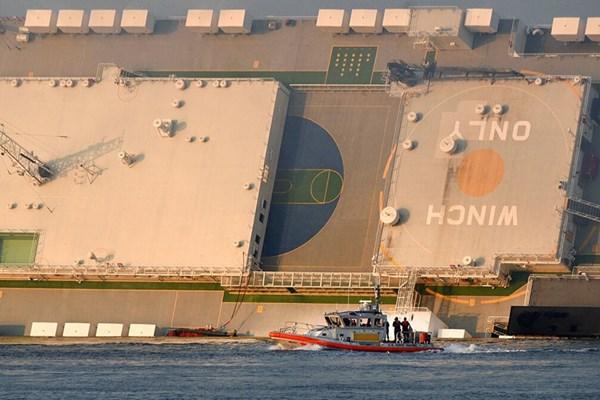 یک کشتی عظیم باری در سواحل جورجیا واژگون شد