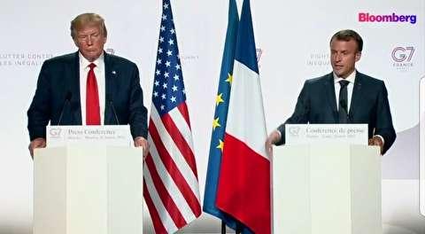 مواضع مکرون و ترامپ درباره ملاقات با روحانی