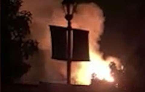 لحظه وقوع انفجار در کالیفرنیای آمریکا