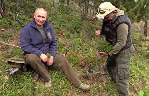 جشن تولد پوتین در کوههای سیبری!