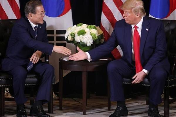 گفتگوی «ترامپ» و «مون» درباره کره شمالی