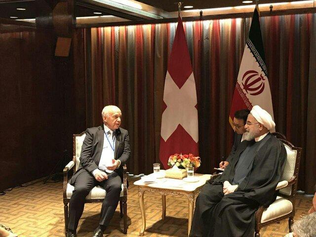 روسای جمهور ایران و سوئیس با یکدیگر دیدار کردند