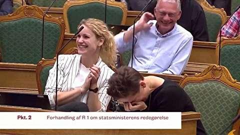 تعطیلی مجلس دانمارک با خندههای نخست وزیر