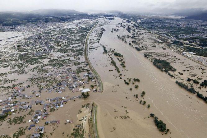 وقوع توفان هاگیبیس در ژاپن با ۵ کشته و ۱۰۰ زخمی