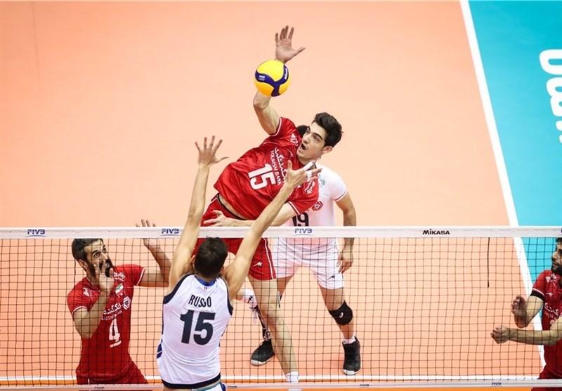 ذخیرههای ایتالیا، برد را از مشت والیبال ایران درآوردند