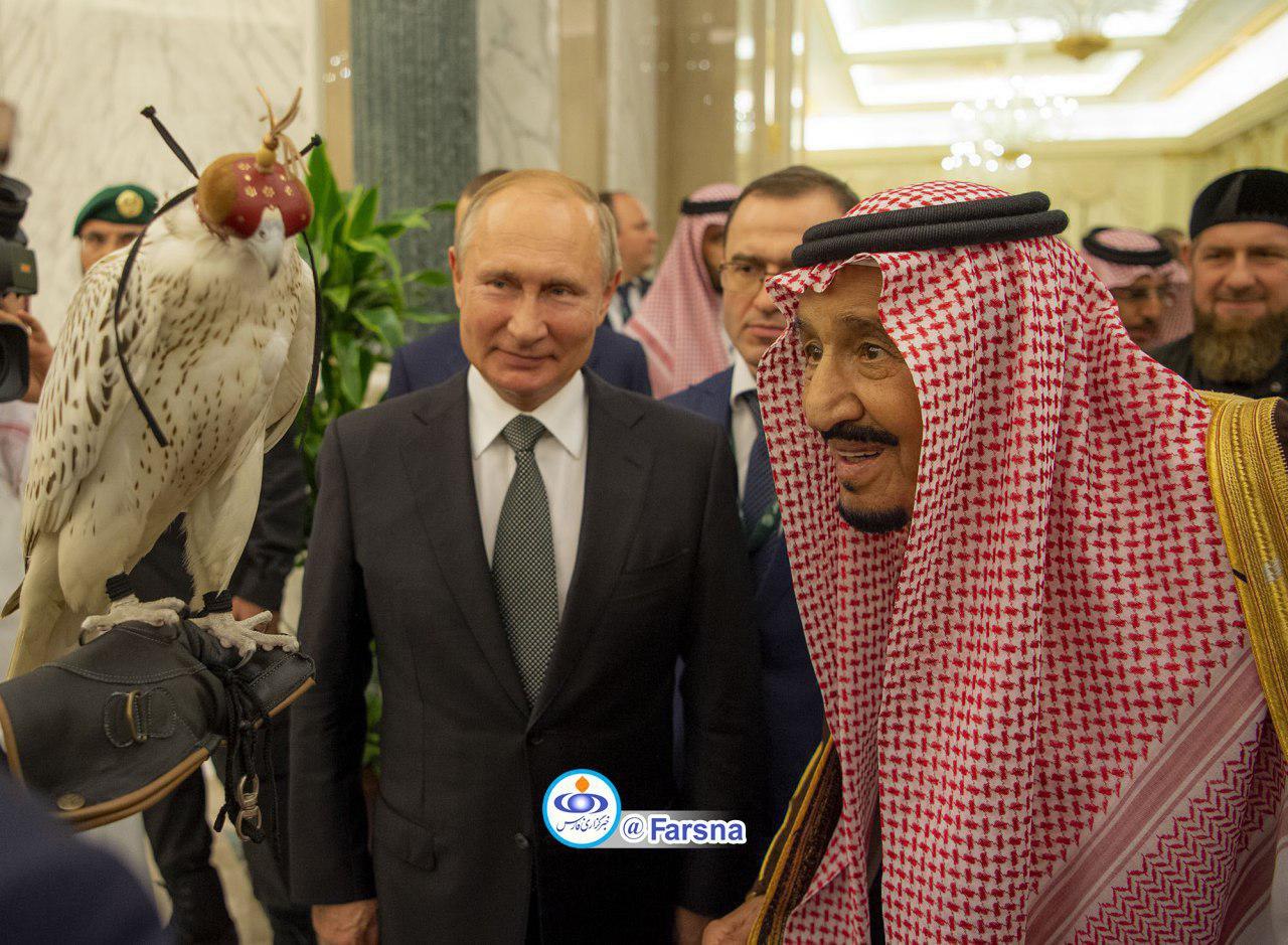 هدیه پوتین به شاه عربستان