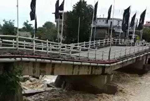 وضعیت بحرانی پل اسالم پس از سیل