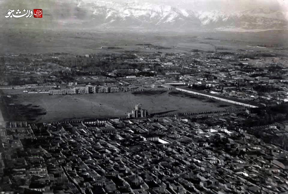 قدیمیترین عکس هوایی تهران!