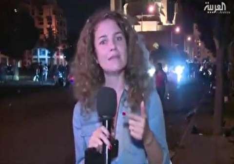 بلایی که لبنانیها سر گزارشگر العربیه آوردهاند!
