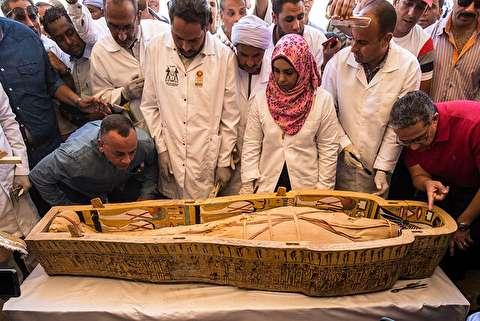 کشف 30 تابوت چوبی سه هزار ساله مصری