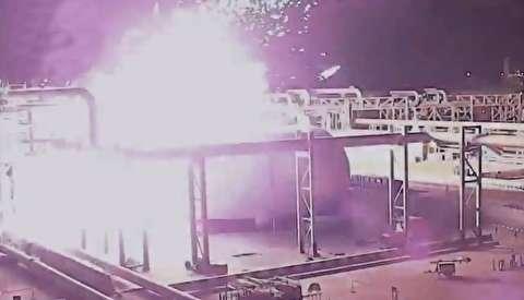 لحظات برخورد موشکها به تاسیسات نفتی آرامکو