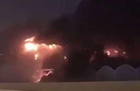آتش سوزی عظیم ایستگاه قطار جده