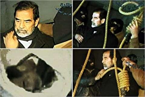 جسد صدام حسین طعمه سگها شد!