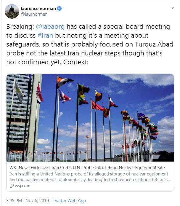 جلسه شورای حکام آژانس اتمی با موضوع پادمان در ایران/عذرخواهی سران قبائل کربلا از ملت و دولت ایران/ادعای مکرون در مورد ترک برجام از سوی ایران/ بیانیه سفارت آمریکا در بغداد درباره تظاهراتهای عراق