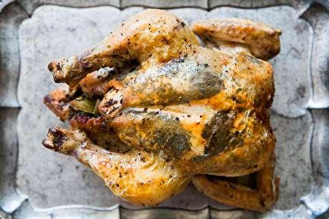 دستور پخت مرغ شکم پر مدیترانهای