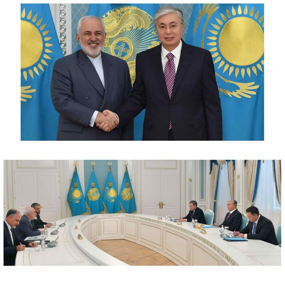 ظریف با رئیسجمهور قزاقستان دیدار کرد