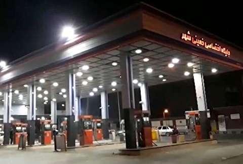 پمپبنزینی که ادعا میشد به آتش کشیده شد