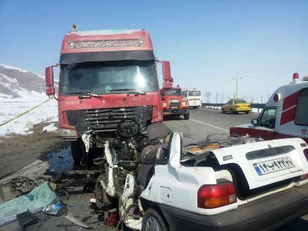 تصادف مرگبار تریلی با ۳ دستگاه خودرو در گلستان