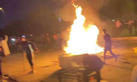 تظاهرات شبانه در کربلا