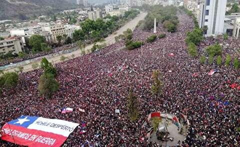 تظاهرات یک میلیونی شیلی