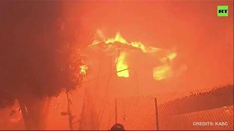 آتش سوزی گسترده کالیفرنیا