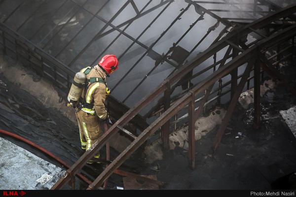 آتشسوزی در بازار بزرگ اروند (کنزل المال) خرمشهر