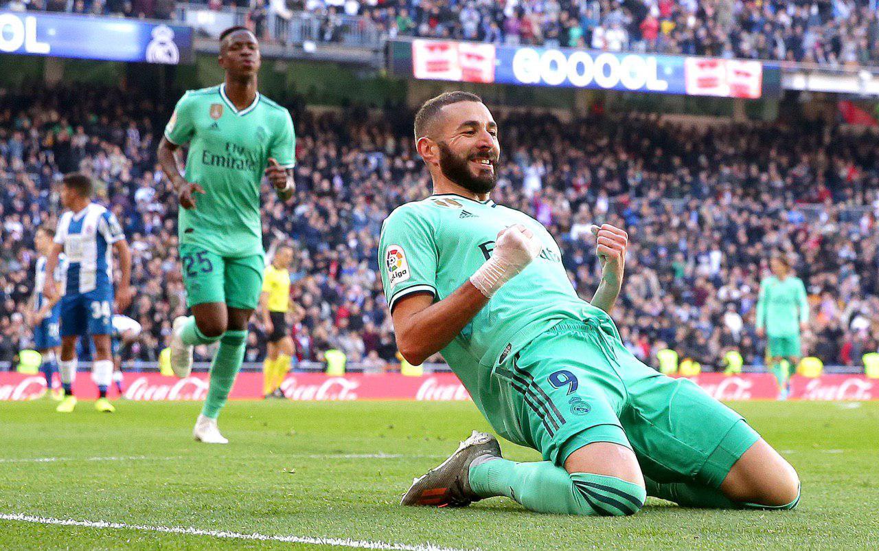 رئال مادرید با دو گل فرانسوی صدرنشین لالیگا شد