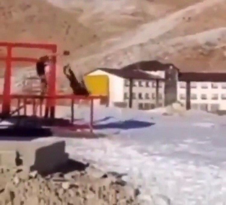 حادثه وحشتناک در پیست اسکی سپیدان + عکس