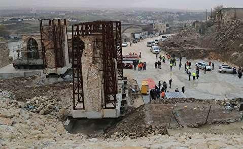 انتقال سه کیلومتری یک مسجد تاریخی روی چرخ