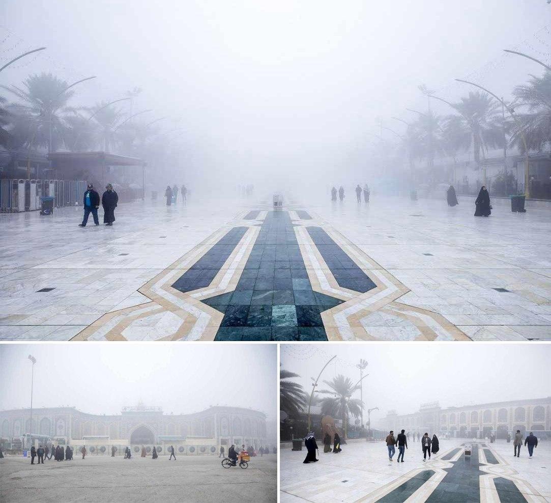 بین الحرمین غرق در مه
