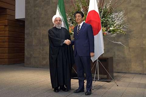 ملاقات رئیس جمهور ایران و نخست وزیر ژاپن