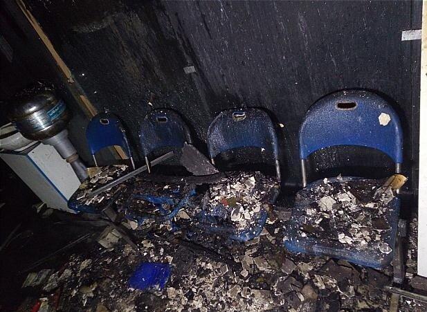 آتشسوزی دفتر پیشخوان دولت در جنوب تهران