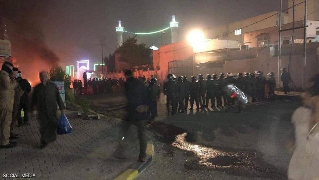 درگیری در نزدیکی کنسولگری ایران در نجف