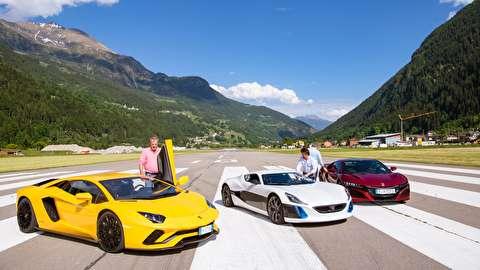 جدال سه سوپرخودرو در جادههای سوئیس