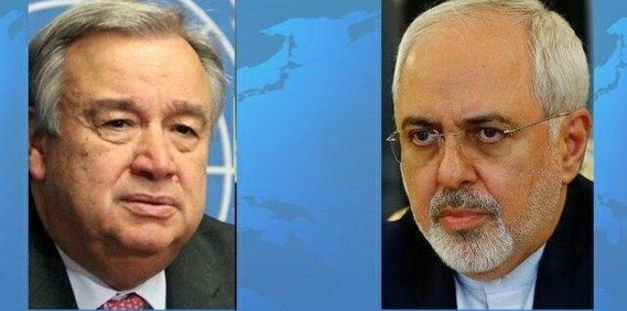 گفتوگوی مجدد ظریف و دبیرکل سازمان ملل متحد