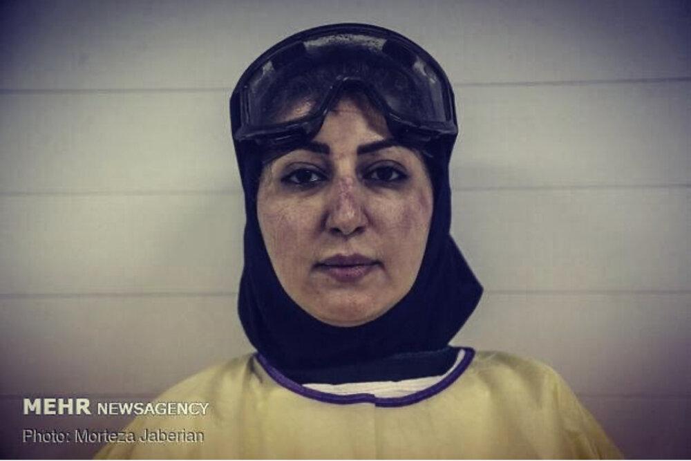 تصویر یک خانم دکتر در چالش عکس بیرتوش