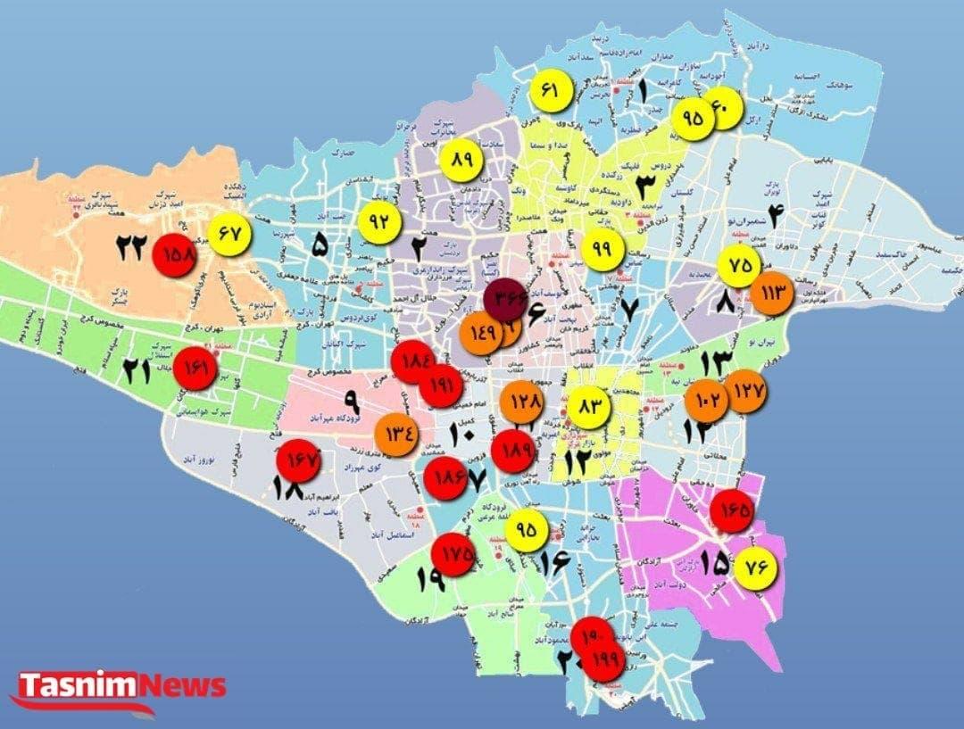 آلودهترین مناطق تهران کدامند؟
