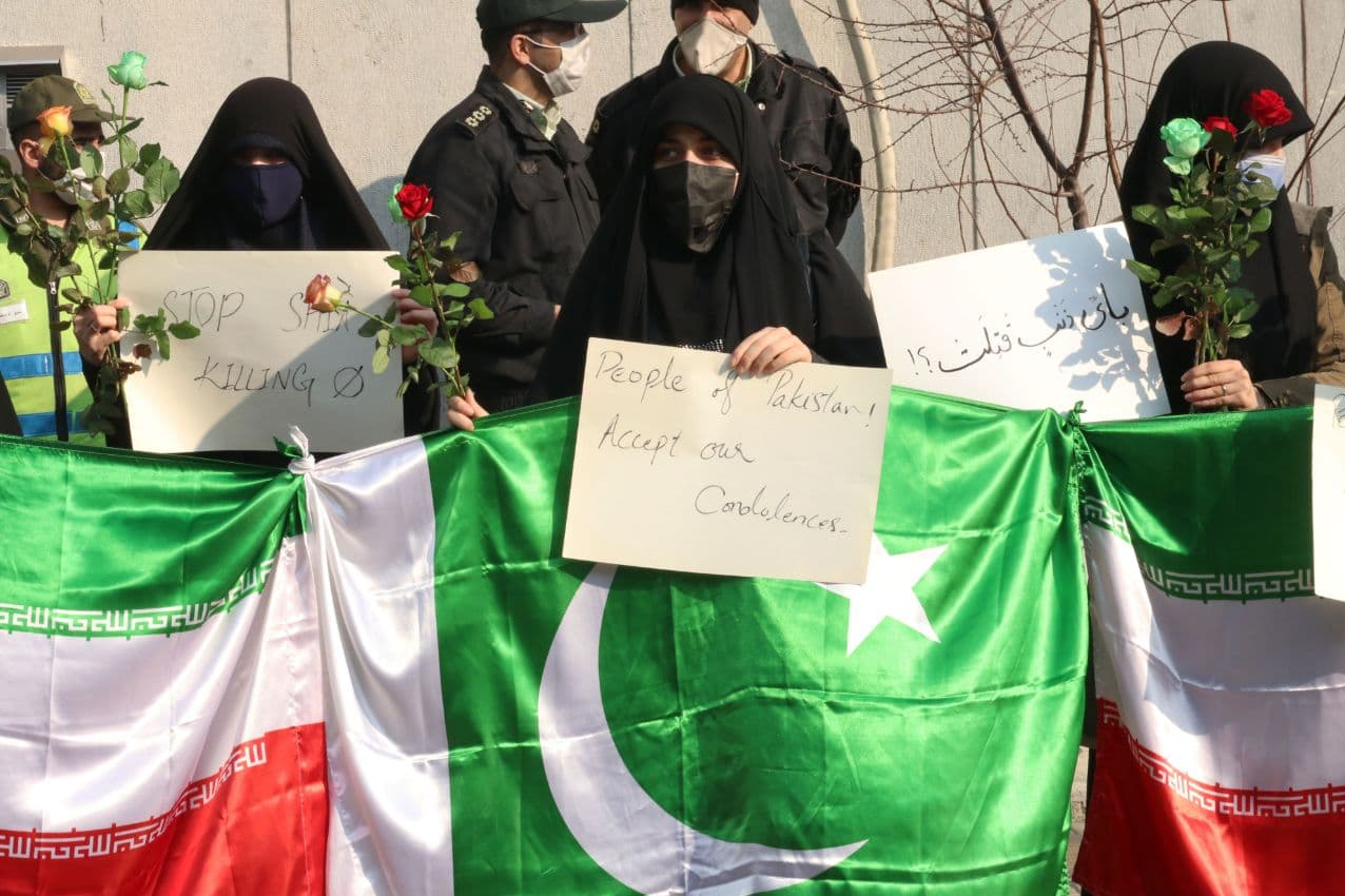 تجمع دانشجویان در پی کشتار معدنچیان پاکستانی