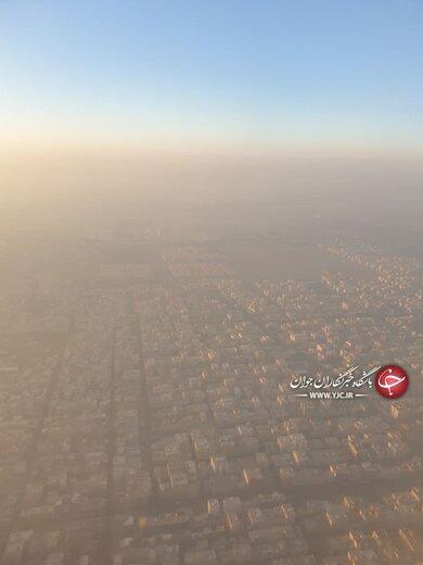 تصویری ترسناک از آلودگی هوای تهران