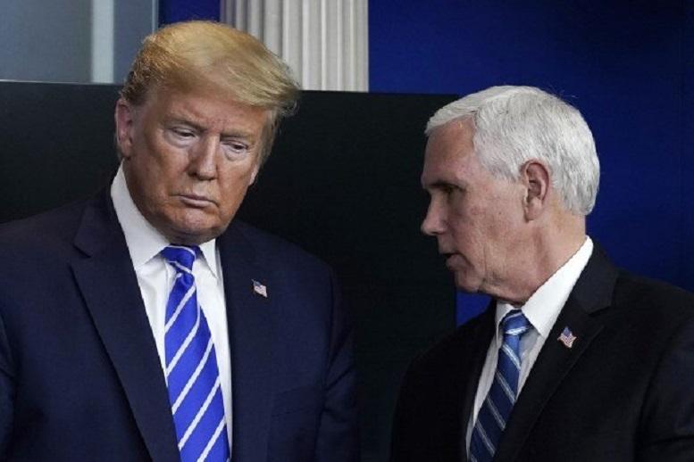 ترامپ و پنس با یکدیگر دیدار کردند