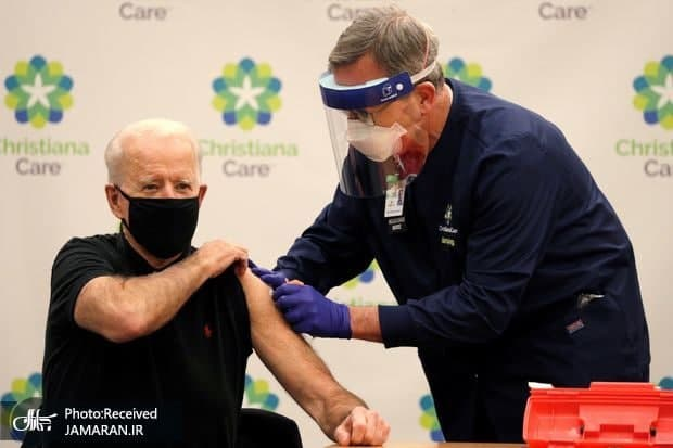 بایدن برای بار دوم واکسن کرونا زد
