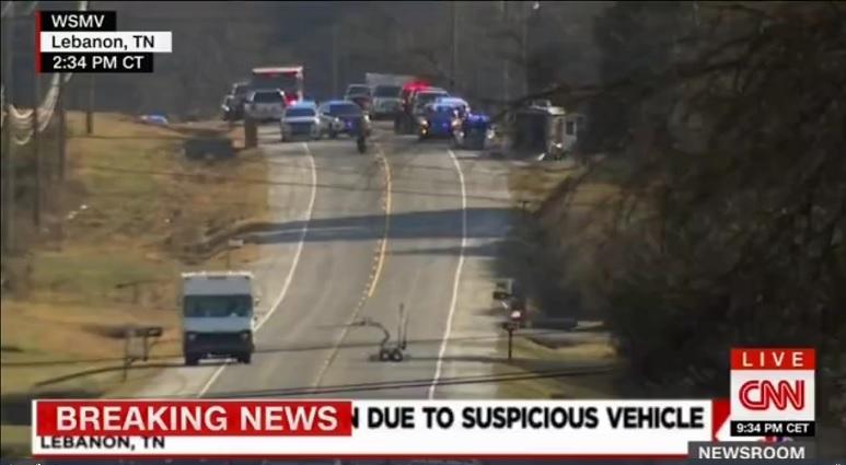 کشف خودرو مشکوک به بمبگذاری در تنسی آمریکا